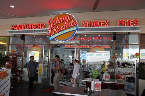 Outside Johnny Rockets