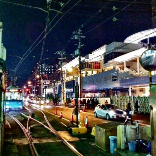 夜の上町線駅から。みなさん、今日も一日、お疲れ様でした。#Osaka #Abeno #night