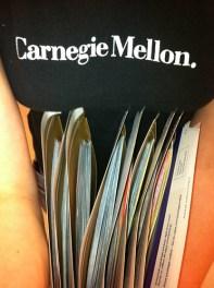 Carnegie Mellon t-shirt.