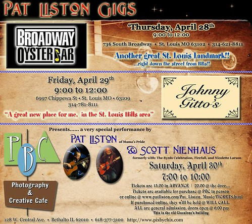 Pat Liston 4-28 thru 4-30-11
