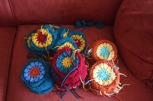 granny squares, status as of late April