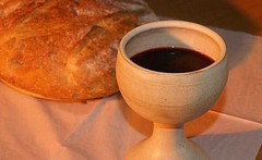 Communion bread and wine by getfed