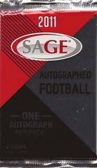 2011 SAGE Autographed pack