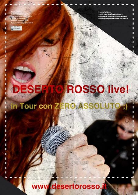 DESERTO ROSSO in tour con gli ZERO ASSOLUTO!