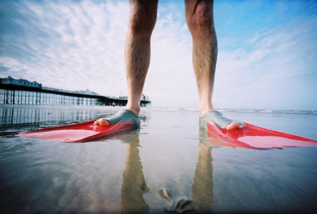 flippers shot on lomo LC-Wide