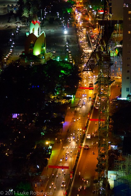 Nha Trang Beach Road from the Sheraton roof bar