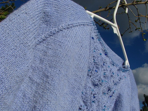 Star Gazing Test Knit Raglan Shaping Completed