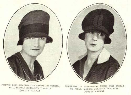 moda de sombreros de mujer 1926