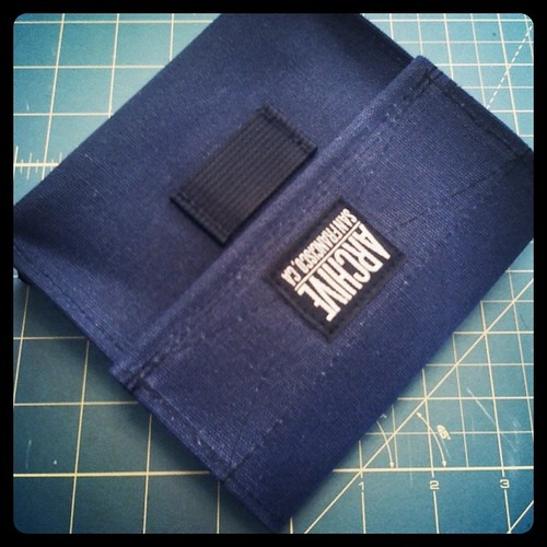 Navy wax canvas hip bag by Archive Victor