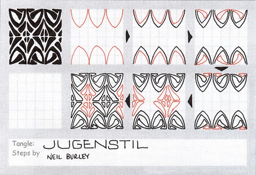 Jugenstil - tangle pattern by perfectly4med