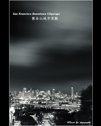 San Francisco Downtown Cityscape 舊金山城市景觀 by davidyuweb