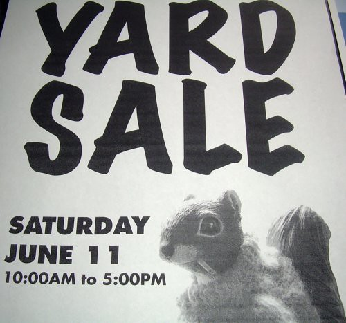Smoking Squirrel Yard Sale