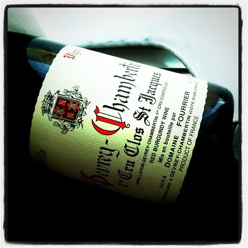 Domaine Fourrier Gevrey-Chambertin Clos St. Jacques 2000 by mengteck