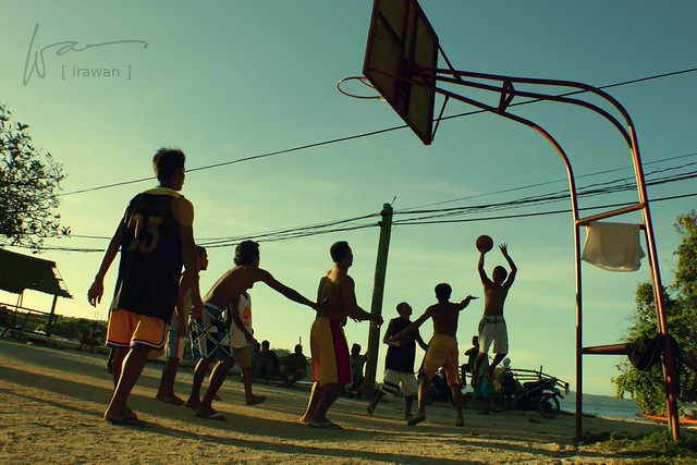 Basketball by the beach, boracay