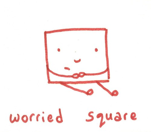 worried square