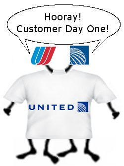 Customer Day One at the New United