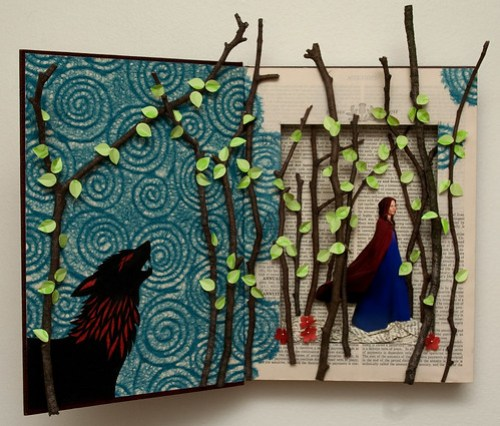 Altered Book: Little Red Riding Hood