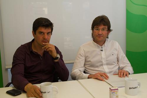 Álvaro Iturritxa y Gorka Urtaran by agirregabiria