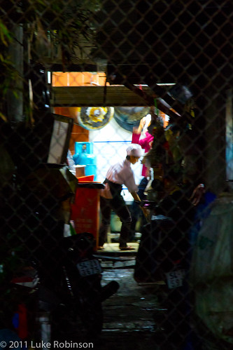 Late night kitchen work, Saigon