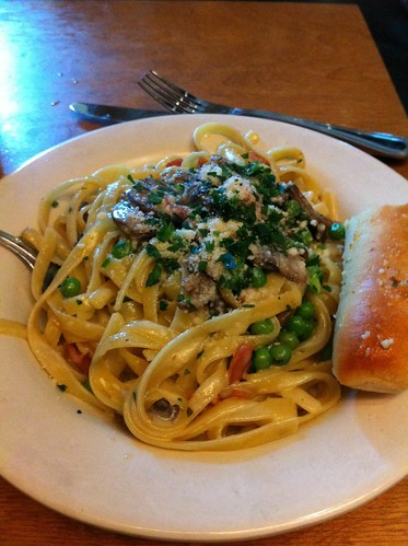 Go Roma: fettucine with roma alfredo sauce