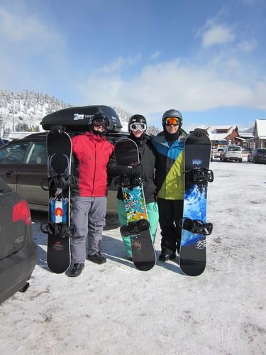 Snowboarders!