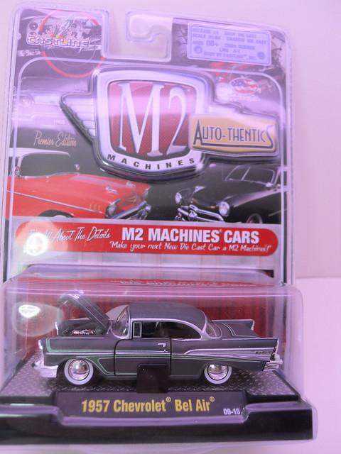 m2 machines autothentics 1957 chevy bel air grey (1)