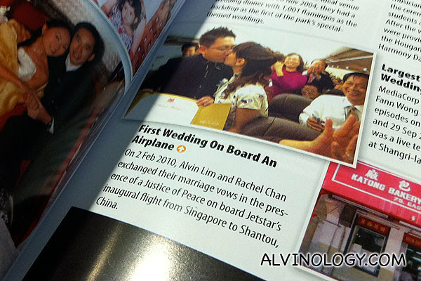 Alvin and Rachel in the Singapore Book of Records