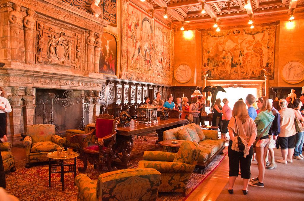 The living room, Hearst Castle