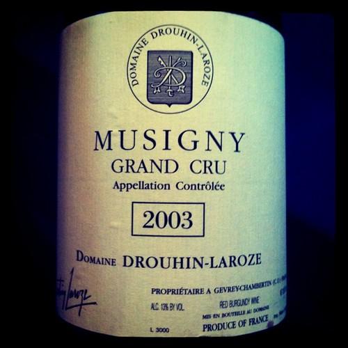 Drouhin-Laroze Musigny 2003