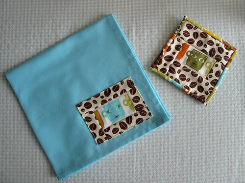 Log Cabin Napkin and Coaster Set