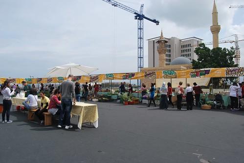 The farmers' market in sunshine