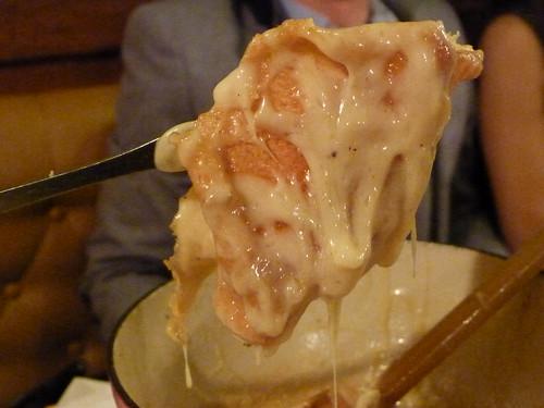 bottom of the fondue pot