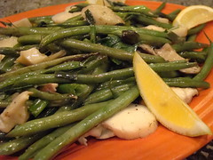 Herbed Haricot Vert with King Trumpet Mushrooms