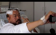 Weiwei sent a message to the police back in China,