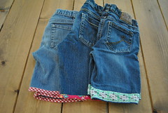 blue jeans to shorts