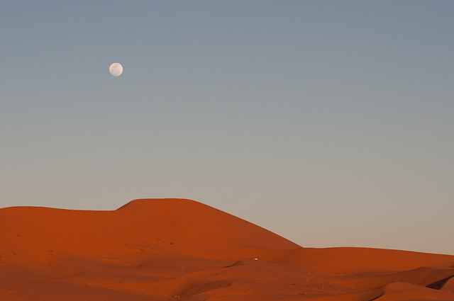 Erg Chebbi in the evening
