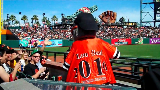Here comes Lou Seal