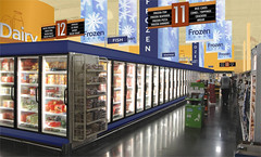 Grocery Freezer Section | Market Design Rendering | 3D Decor Design | Conceptual Grocery Store Design | Defense Commissary Agency