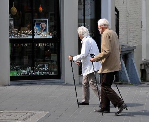 ''Nordic Walking' Groentenmarkt Gent