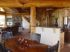 Log Post & Beam Dining Room