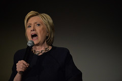Hillary Clinton campaigned at Parkside Hall in San Jose, Calif.