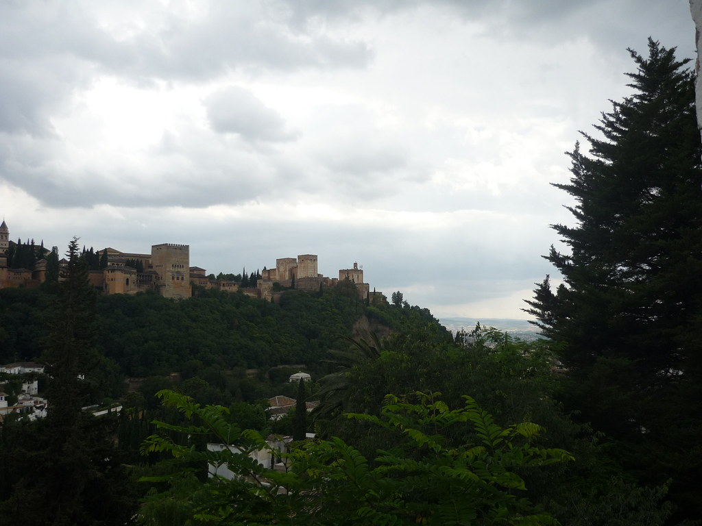 View of the Alhambra from the Road to Sacromonte