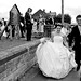Bride & Groom leaving church at Staithes