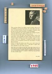 Bèatrix Beck, Léon Morin, prete. Einaudi 1961. Piatto posteriore. (ill. fotog. b/n: ritratto dell'autrice).
