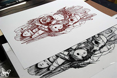 Blo Screenprint by Exquisite Corpse
