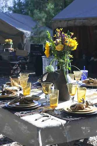 Table shot at Joan Embery's Ranch