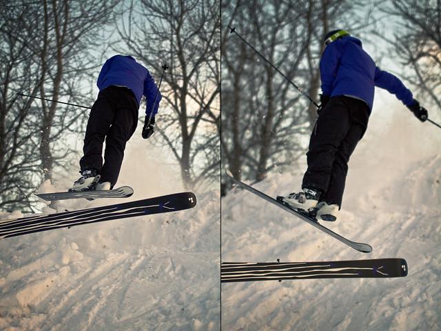..men skien satt ikke fast