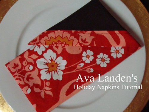 Double Sided Napkin Tutorial