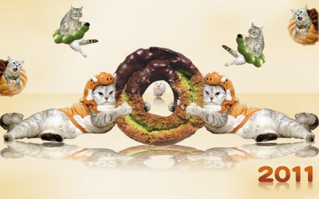 甜甜圈桌布