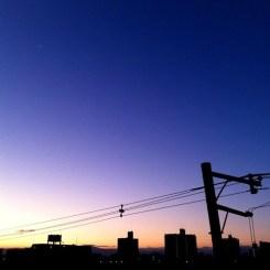 みんなー、\(⋆ฺ╹∀╹⋆ฺ)✿⊱㋔㋩㋵㋒⊰✿  今朝の大阪、快晴です。